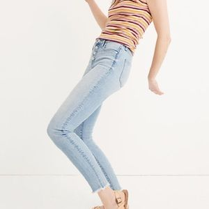 "Madewell 9"" High-Rise Skinny Crop Front Button"